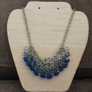 Francesca's Ombre Shades of Blue Bead Necklace